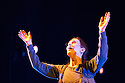 Edinburgh, UK. 16.08.2013. ON BEHALF OF NATURE, by Meredith Monk and Vocal Ensemble, opens at the Lyceum, as part of the Edinburgh International Festival. The ensemble comprises: Ellen Fisher, Sidney Chen, Katie Geissinger, Bohdan Hilash, John Hollenbeck, Bruce Rameker, Allison Sniffin and Meredith Monk. Picture shows: Meredith Monk. Photograph © Jane Hobson.
