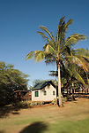 Hawaii: Molokai, eco-lodging at The Lodge at Moloki Ranch, at Kaupoa Beach, self-sufficient lodgings with own solar electricity, solar hot water, and composting toilet..Photo himolo196-71922..Photo copyright Lee Foster, www.fostertravel.com, lee@fostertravel.com, 510-549-2202