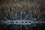 Vacation homes are covered with snow on Donner Lake in Truckee, Calif., January 6, 2011. California has already received 80% of its normal annual precipitation in the first two months of a rainy season that lasts another four months..CREDIT: Max Whittaker for The Wall Street Journal.CALWATER