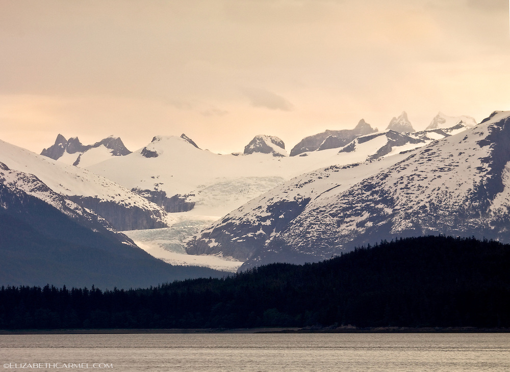 Sunset on Mendenhall Glacier