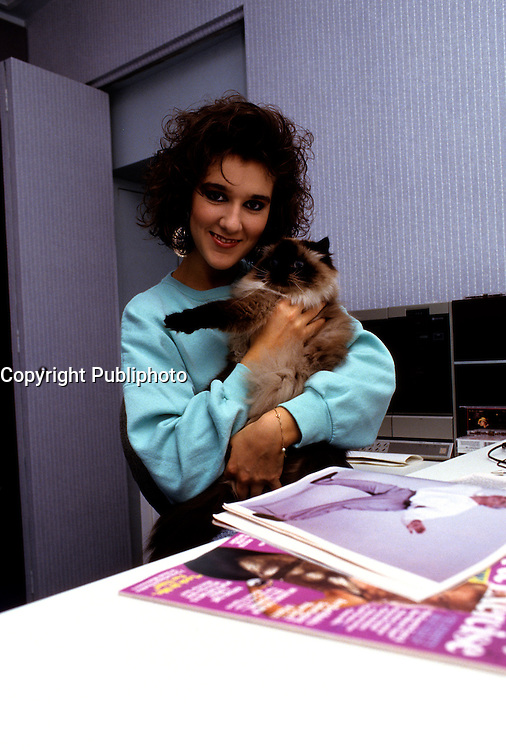 EXCLUSIVE Photo of Celine Dion, her manager Rene Angelil,her mother circa 1987.