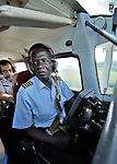 Flying from Minga to Wembo Nyama over the Congo with Jacques Umembudi Akasa, a United Methodist missionary pilot for Wings of Caring Aviation, a program of the United Methodist Church in the Democratic Republic of the Congo.