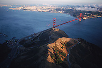 Aerial of the Golden Gate Recreation Area's Presidio.  The National Parks Service took over the Presidio in 1993 and this meant they own the land at both ends of the Golden Gate Bridge.  The military still has a small presence at the Presidio..