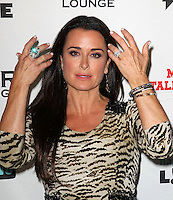 Kyle Richards.Bravo's Andy Cohen's Book Release Party For &quot;Most Talkative: Stories From The Front Lines Of Pop Held at SUR Lounge, West Hollywood, California, USA..May 14th, 2012.half bracelet  length black  dress tiger animal print dress hands rings beige .CAP/ADM/KB.&copy;Kevan Brooks/AdMedia/Capital Pictures.