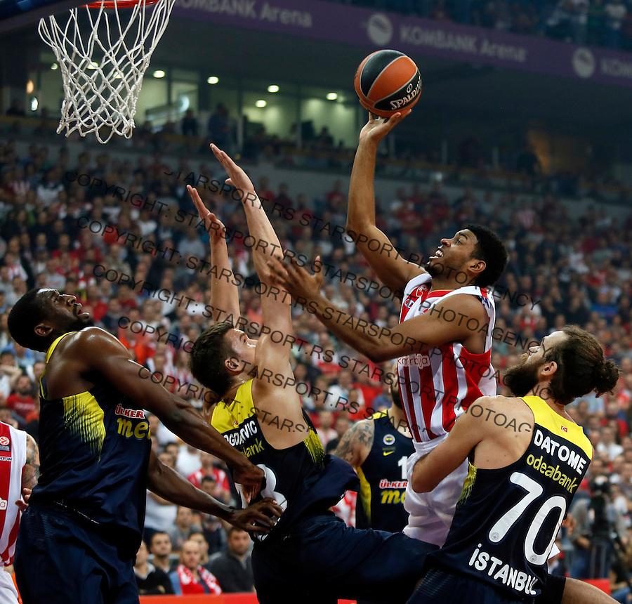 Ryan Thompson Euroleague basketball game between Crvena Zvezda and Fenerbahce on Novembar 6. 2015 Beograd, Srbija, 6.11.2015.  (credit image & photo: Pedja Milosavljevic / STARSPORT)