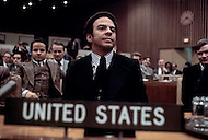 The United Nations, New York City, New York - January 30, 1977. Photograph taken of Andrew Young at a conference held at the United Nations. Andrew Young (born March 12, 1932) is an American activist, politician and diplomat, whom served as the Mayor of Atlanta from 1982-1990.
