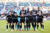 San Jose, CA - Wednesday May 17, 2017: San Jose Earthquakes starting XI prior to a Major League Soccer (MLS) match between the San Jose Earthquakes and Orlando City SC at Avaya Stadium.