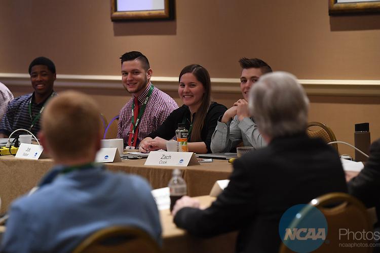 17 JAN 2017:  The NCAA Division III SAAC meeting takes place during the 2017 NCAA Convention takes place at the Gaylord Opryland Resort & Convention Center in Nashville, TN. Justin Tafoya/NCAA Photos (Pictured: Megan Warren)