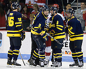 Jesse Todd (Merrimack - 16), Kyle Bigos (Merrimack - 3), Carter Madsen (Merrimack - 9), Fraser Allen (Merrimack - 2) - The visiting Merrimack College Warriors tied the Boston University Terriers 1-1 on Friday, November 12, 2010, at Agganis Arena in Boston, Massachusetts.