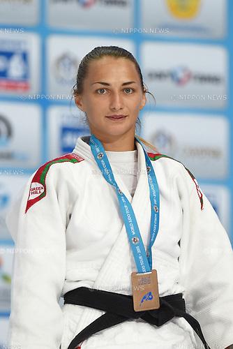 Darya Skrypnik (BLR), AUGUST 25, 2015 - Judo : World Judo Championships Astana 2015 Women's -52kg Medal Ceremony at Alau Ice Palace in Astana, Kazakhstan. (Photo by AFLO SPORT)