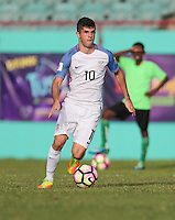 St. Vincent and the Grenadines - September 2, 2016: The U.S. Men's National team take a 4-0 lead over St. Vincent and the Grenadines with Christian Pulisic contributing a goal in a World Cup Qualifier (WCQ) match at Arnos Vale Stadium.