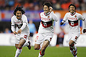 (L to R) Jungo Fujimoto (Grampus), Keiji Tamada (Grampus), Yoshizumi Ogawa (Grampus), DECEMBER 3, 2011 - Football / Soccer : Keiji Tamada celebrates scoring his goal during 2011 J.LEAGUE Division 1 final sec between Niigata Albirex 0-1 Nagoya Grampus at Niigata bigswan stadium in Niigata, Japan. (Photo by Yusuke Nakanishi/AFLO SPORT) [1090]