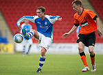 St Johnstone v Dundee United....07.08.12  SPL Under 20 League.Chris Kane and Ryan Lundie.Picture by Graeme Hart..Copyright Perthshire Picture Agency.Tel: 01738 623350  Mobile: 07990 594431