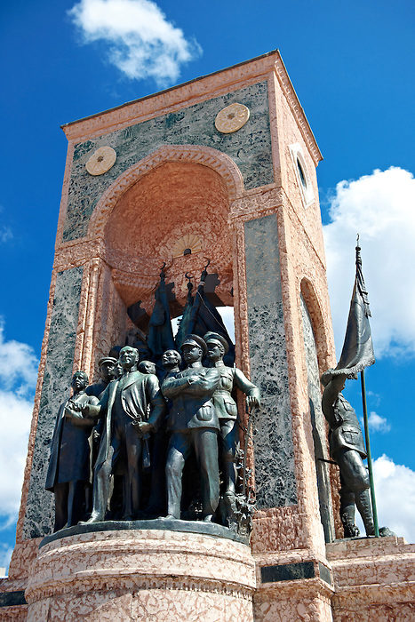 Monument of the Republic with Ataturk , Taxim Square Istanbul Turkey