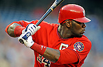 21 June 2008: Washington Nationals' outfielder Elijah Dukes in action against the Texas Rangers at Nationals Park in Washington, DC. The Rangers defeated the Nationals 13-3 in the second game of their 3-game inter-league series...Mandatory Photo Credit: Ed Wolfstein Photo