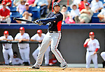 6 March 2011: Atlanta Braves' infielder Freddie Freeman in action during a Spring Training game against the Washington Nationals at Space Coast Stadium in Viera, Florida. The Braves shut out the Nationals 5-0 in Grapefruit League action. Mandatory Credit: Ed Wolfstein Photo