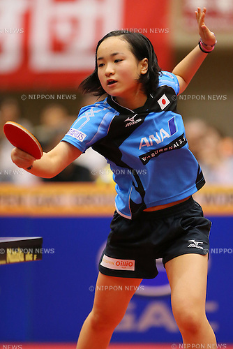 Mima Ito, JUNE 21, 2014 - Table Tennis : ITTF World Tour, Japan Open 2014 U21 women's singles semi-final at Yokohama Cultural Gymnasium, Kanagawa, Japan.  <br /> Kanagawa, Japan. (Photo by Yohei Osada/AFLO SPORT) [1156]
