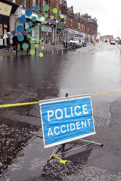 Troon's Portland Street is Flooded with water coming back up out of the drains. The only bit of dry road is  small rise at Troon Cross. With a well flooded Ayr St. Picture: Universal News and Sport (Europe)17/10/2011