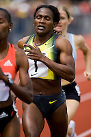 EUGENE, OR--Maria Mutola  wins her 15th straight women's 800 meters at the Steve Prefontaine Classic, Hayward Field, Eugene, OR. SUNDAY, JUNE 10, 2007. PHOTO © 2007 DON FERIA