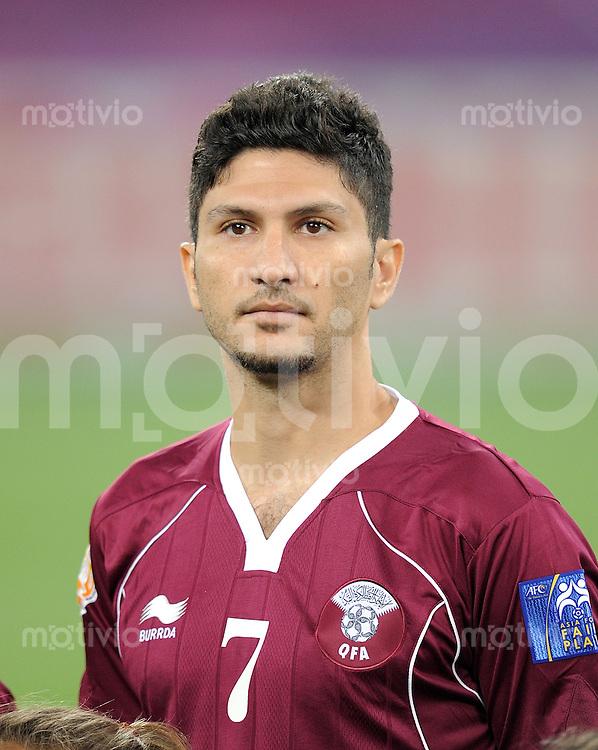 Fussball AFC Asian Cup 2011  Eroeffnungsspiel   07.01.2011 Katar - Uzbekistan Wesam Rizik (Katar)