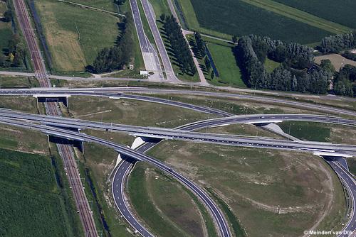 Verkeersknooppunt Werpsterhoek bij Leeuwarden