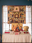 Altar in the chapel, St. Silhouan Monastery, Columbia, California.
