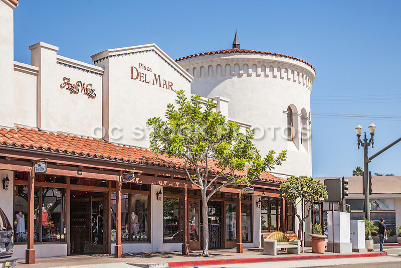 Plaza Del Mar In Downtown San Clemente Socal Stock