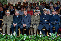 Commemoration for the 72th anniversary of the massacre  Fosse Ardeatine, made in Rome by the occupation troops of Nazi Germany, the  March 24, 1944, were killed, 335 civilians and Italian soldiers. Pictured: The military authorities. Rome Italy. March 23, 2016.