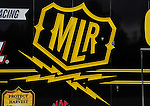 Jan. 17, 2012; Jupiter, FL, USA: Detailed view of the logo for NHRA top fuel dragster driver Morgan Lucas during testing at the PRO Winter Warmup at Palm Beach International Raceway. Mandatory Credit: Mark J. Rebilas-