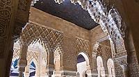arches in room off of Patio Arrayanes, Palacio Nazaries, Alhambra, Granada, Spain