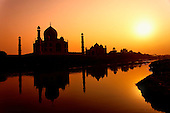 Taj Mahal at sunset, Agra, India