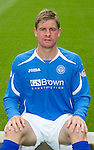 St Johnstone FC...Season 2011-12.Jamie Adams.Picture by Graeme Hart..Copyright Perthshire Picture Agency.Tel: 01738 623350  Mobile: 07990 594431