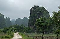 Monsoon Season in North Vietnam, Ninh Binh Landscape,