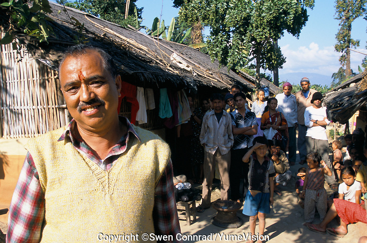 Former Parliamentary in the Butanes government and is family. He is one of 135,000 Lotshampa refugees from Bhutan in Nepal.