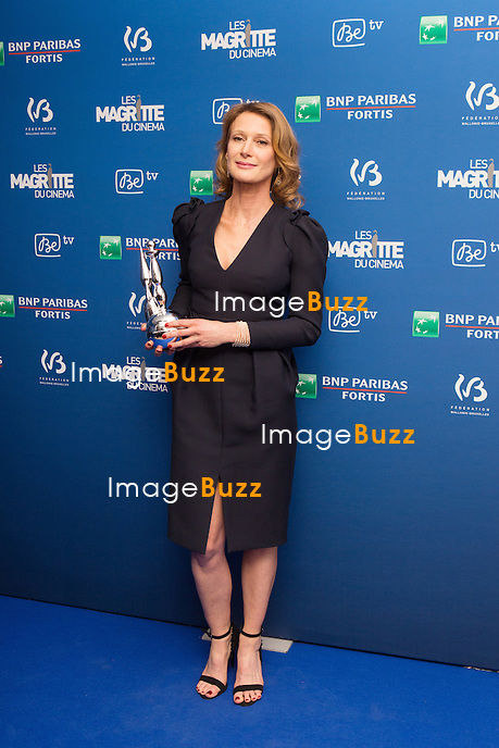 Astrid Whettnall ( Magritte de la meilleure actrice ) : 7&egrave;me C&eacute;r&eacute;monie des Magritte du Cin&eacute;ma, qui r&eacute;compense le septi&egrave;me art belge, au Square, &agrave; Bruxelles - Salle de presse.<br /> 7th edition of the Magritte du Cinema awards ceremony - Press Room<br /> Belgium, Brussels, 4 February 2017