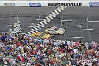 30 March - 1 April, 2012, Martinsville, Virginia USA.Ryan Newman, AJ Allmendinger, final lap, white flag.(c)2012, Scott LePage.LAT Photo USA