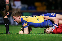 Picture by Alex Whitehead/SWpix.com - 17/03/2017 - Rugby League - Betfred Super League - Leeds Rhinos v Wakefield Trinity - Headingley Carnegie Stadium, Leeds, England - Leeds' Matt Parcell scores a try.