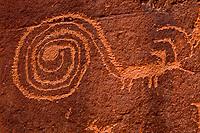 Spiral figure, Proposed La Sal Waters Wilderness, Utah  Ancient Native American petroglyphs