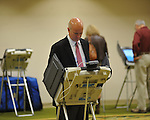 Lee Tyner votes at the Oxford Conference Center in Oxford, Miss. on Tuesday, November 6, 2012. President Obama won reelection.