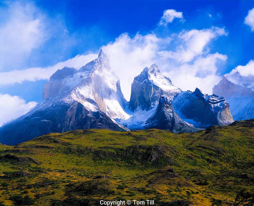 Cuernos Del Paine  Torres Del Paine National Park, Chile  Andes Mountains, South America  Patagonia  Morning  January