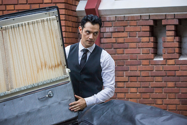 "Steven Cabral as Raymond Collins, the Funeral Director, in ABC Family's ""Ravenswood""."