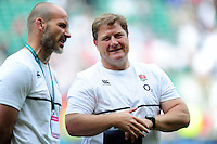 England Rugby Scrum Coach Neal Hatley looks on after the match. Old Mutual Wealth Cup International match between England and Wales on May 29, 2016 at Twickenham Stadium in London, England. Photo by: Patrick Khachfe / Onside Images