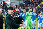 Hearts v St Johnstone&hellip;05.11.16  Tynecastle   SPFL<br />A lone piper plays before kick off<br />Picture by Graeme Hart.<br />Copyright Perthshire Picture Agency<br />Tel: 01738 623350  Mobile: 07990 594431