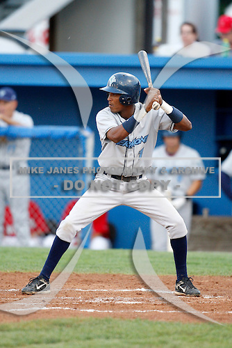 August 11, 2009:  Second Baseman Francisco Soriano of the Vermont Lake Monsters during a game at Dwyer Stadium in Batavia, NY.  The Lake Monsters are the Short-Season Class-A affiliate of the Washington Nationals.  Photo By Mike Janes/Four Seam Images