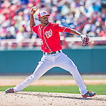 7 March 2016: Washington Nationals pitcher Wander Suero on the mound during a Spring Training pre-season game against the Miami Marlins at Space Coast Stadium in Viera, Florida. The Nationals defeated the Marlins 7-4 in Grapefruit League play. Mandatory Credit: Ed Wolfstein Photo *** RAW (NEF) Image File Available ***