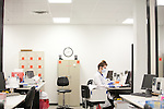 A DNA Forensic scientist works in one of the labs at Orchid Cellmark in Dallas, Texas.