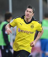 FUSSBALL   1. BUNDESLIGA   SAISON 2012/2013   17. SPIELTAG   TSG 1899 Hoffenheim - Borussia Dortmund      16.12.2012           JUBEL Borussia Dortmund; Torschuetze zum 1-3 Robert Lewandowski