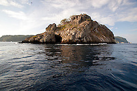 A view of Manulita, a small satellite island off of the larger Cocos Island, off the coast of Costa Rica.