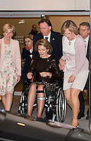 Queen Mathilde of Belgium with knee injury attends the ' Womed Award ' - Belgium