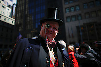 A man pose for a picture as he takes part during the annual easter parade in Manhattan, New York, 03.27.2016. This annual tradition has been taking place in New York City for over 100 years, Photo by VIEWpress.